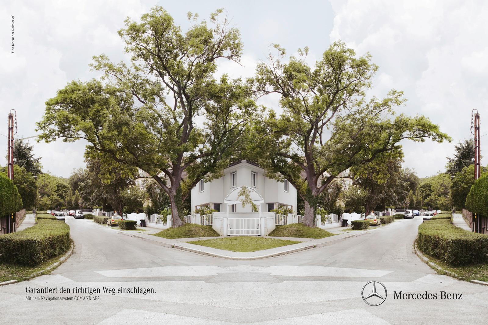 Mercedes Print Ad -  Mirroring