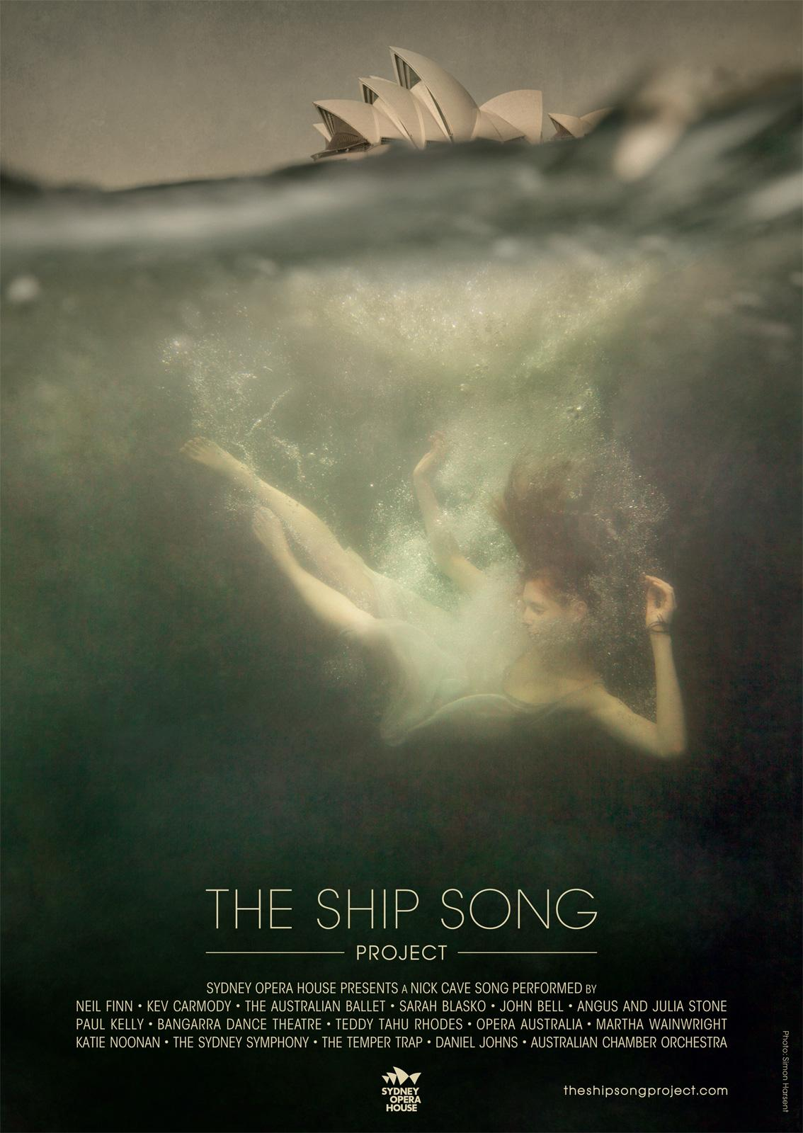 Sydney Opera House Outdoor Ad -  The Ship Song