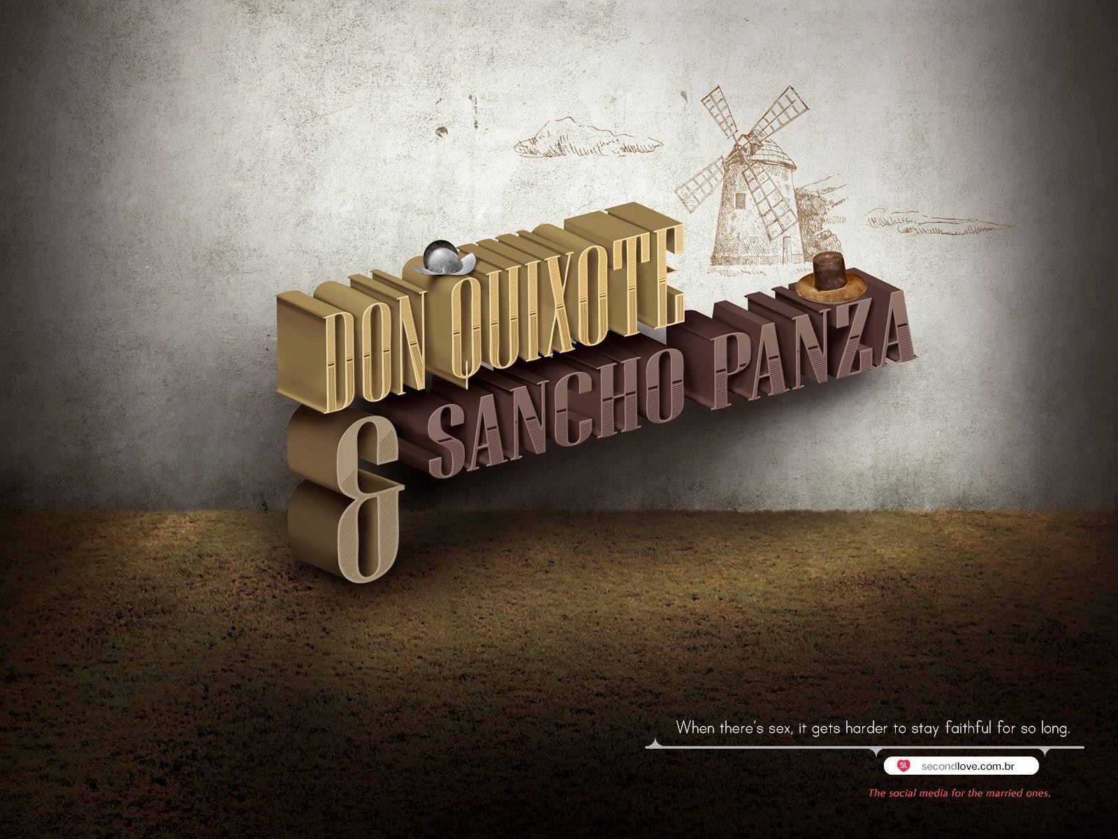 Second Love Print Ad -  Couple, Don Quixote
