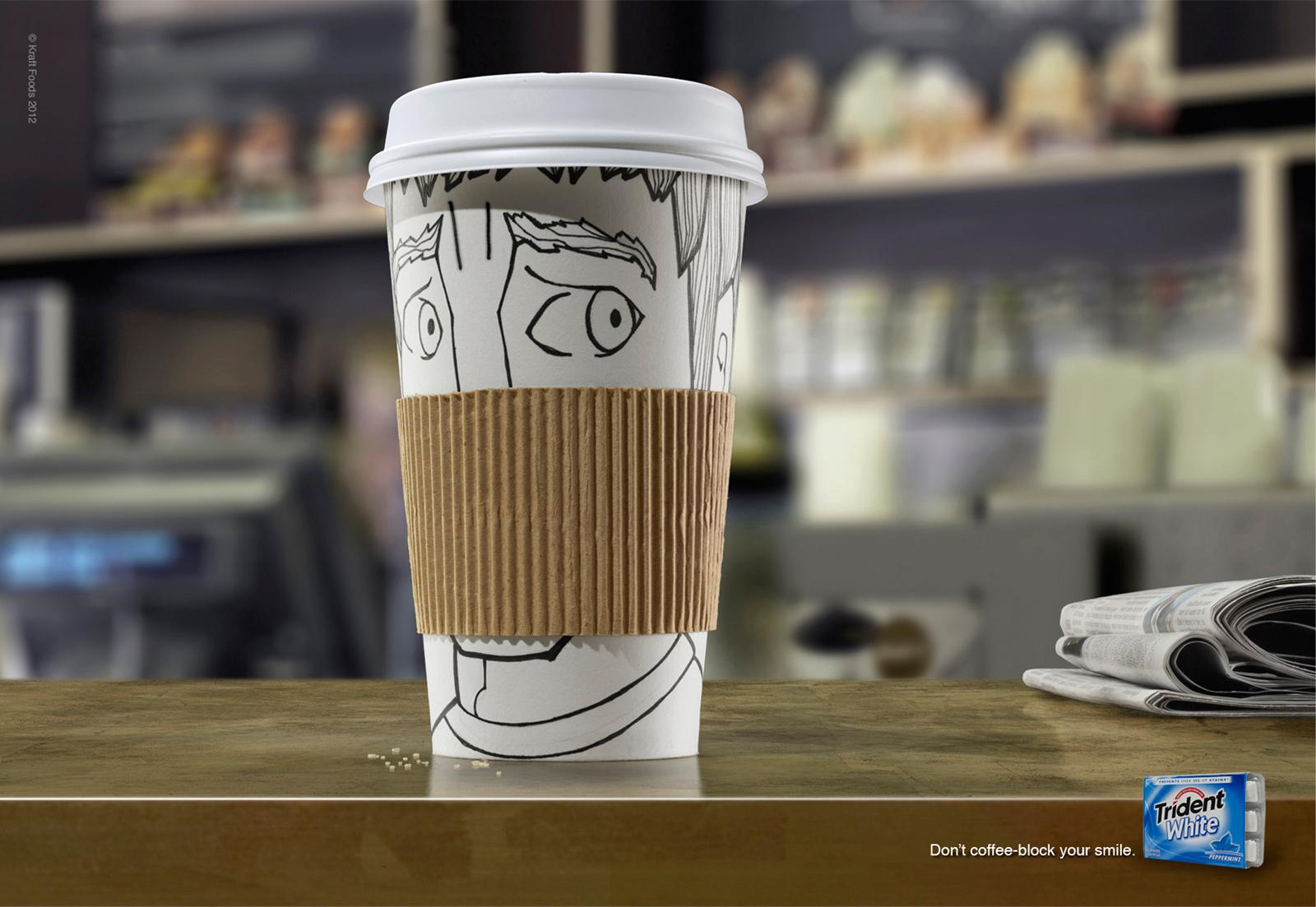 Trident Print Ad -  Coffee block, 3