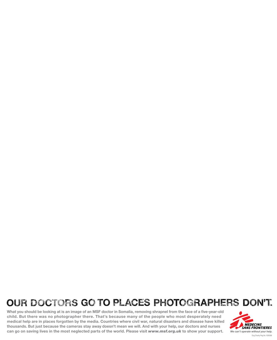 Medecins Sans Frontieres Print Ad -  No photo