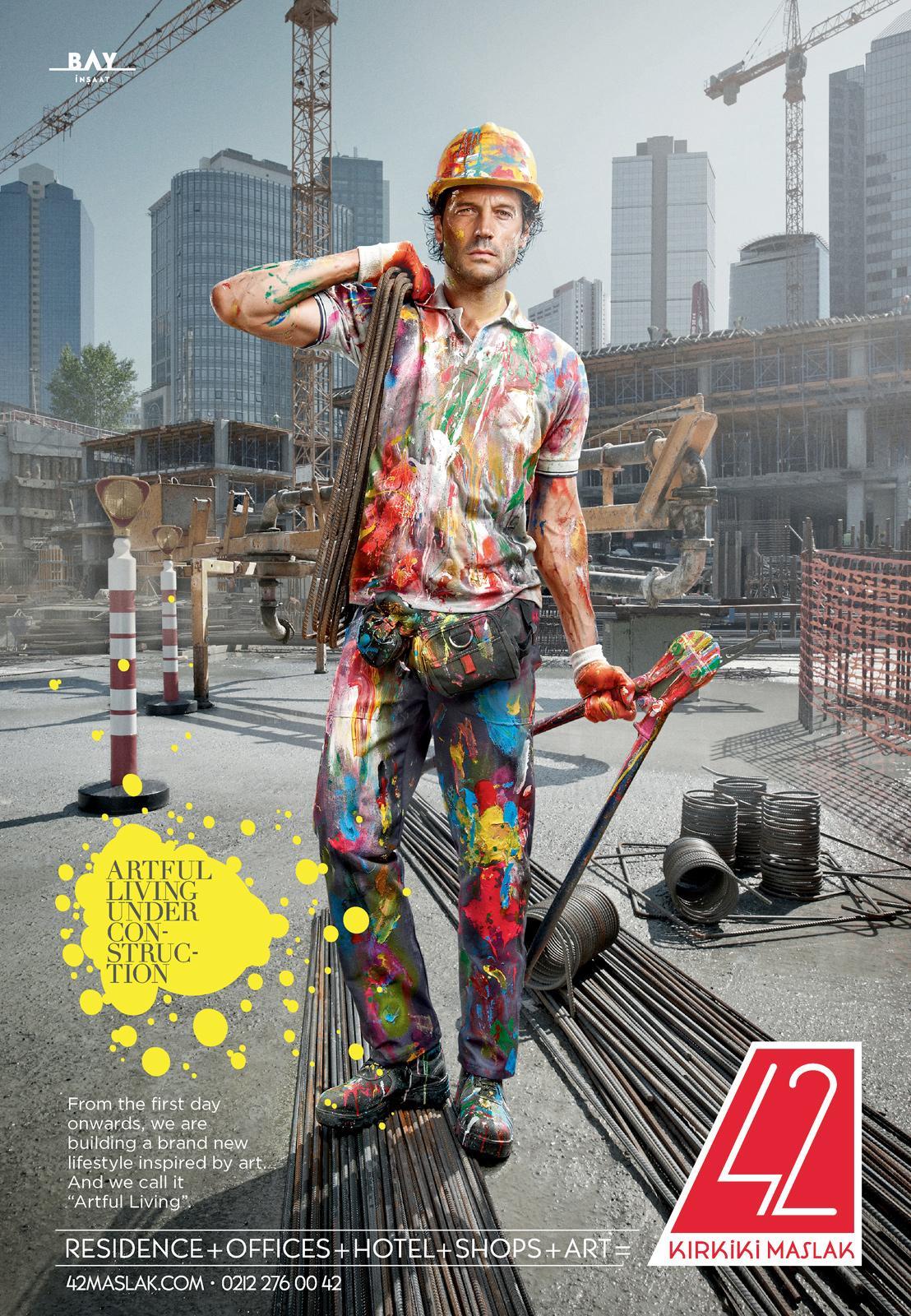 Bay Insaat Print Ad -  Artful Construction, 1