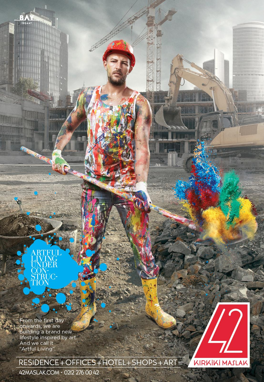 Bay Insaat Print Ad -  Artful Construction, 2