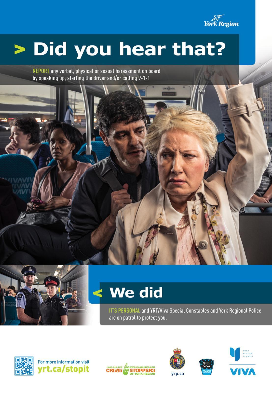 York Region Transit Outdoor Ad -  It's Personal, Verbal