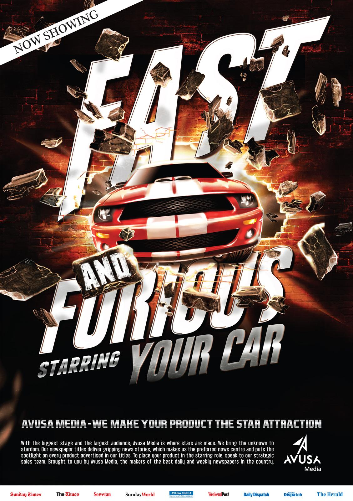 Avusa Media Outdoor Ad -  Fast and Furious