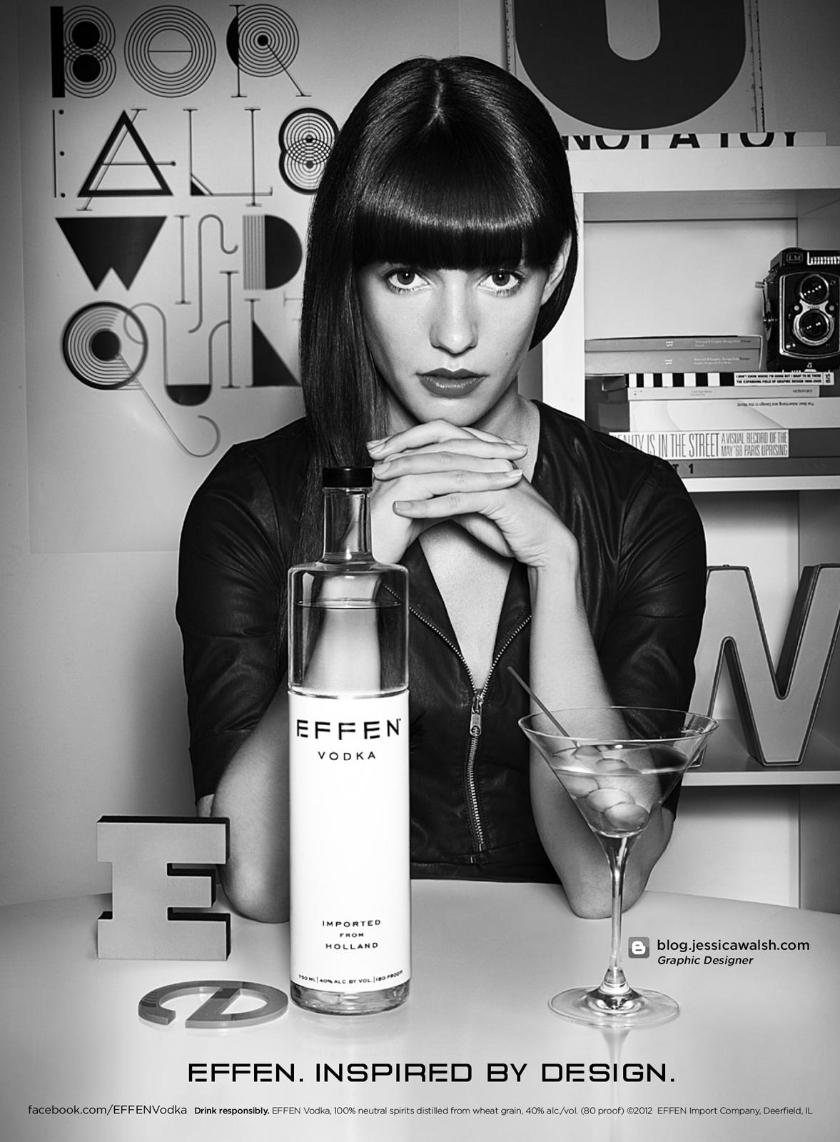 Effen Vodka Print Ad -  Inspired by design - Jessica Walsh