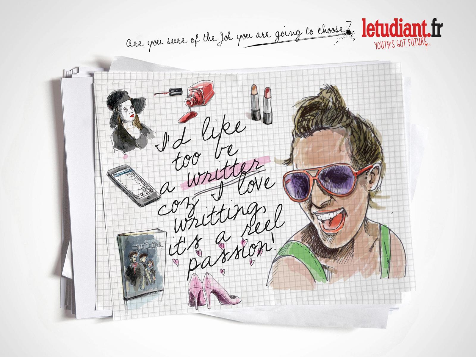 L'Etudiant Print Ad -  Writer
