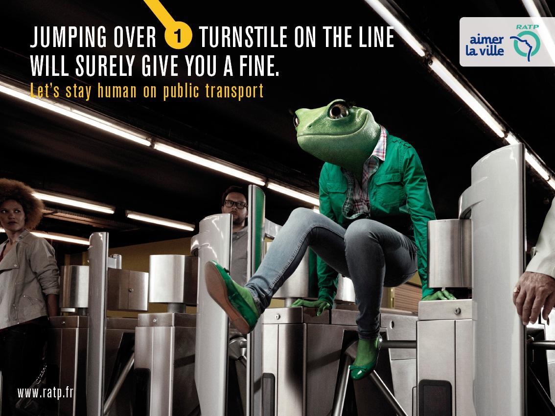 RATP Print Ad -  Frog