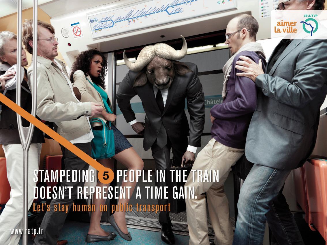 RATP Print Ad -  Bull