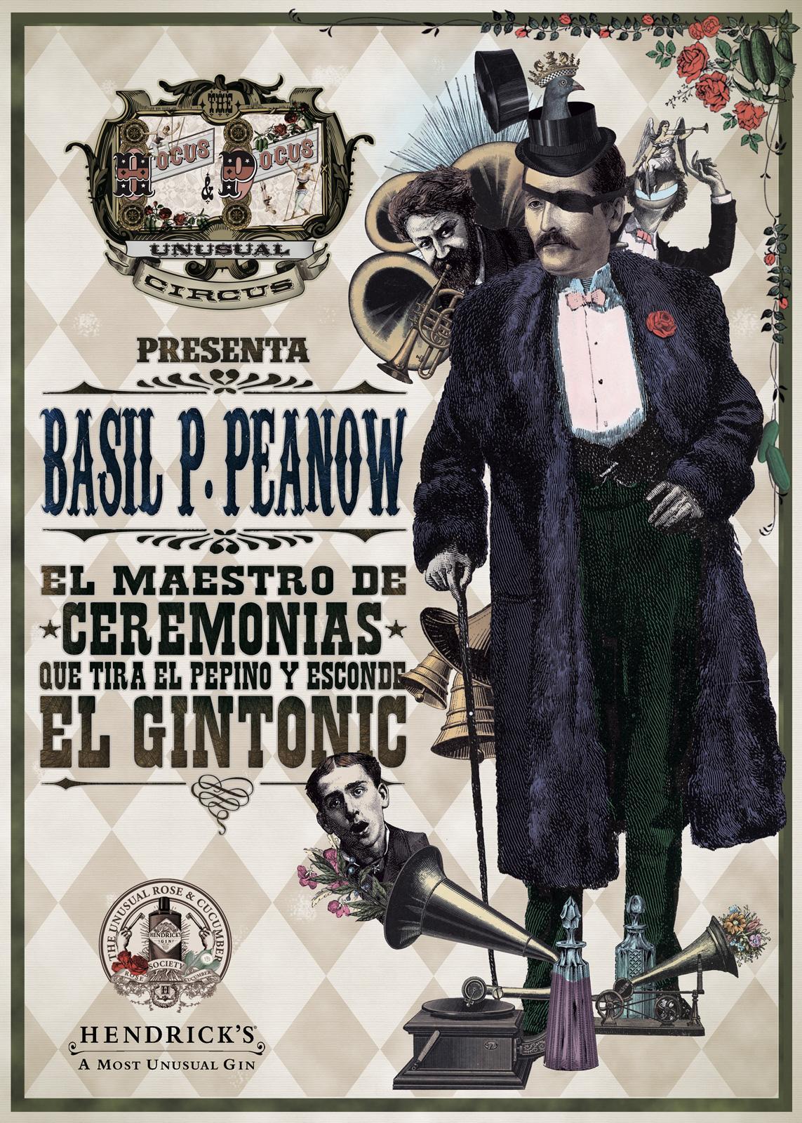 Hendrick's Gyn Print Ad -  Basil P. Peanow