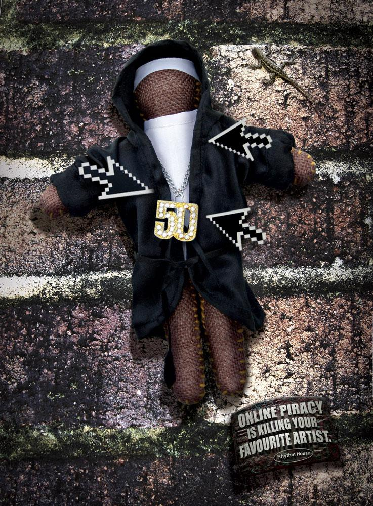 Rhythm House Print Ad -  50Cent Voodoo