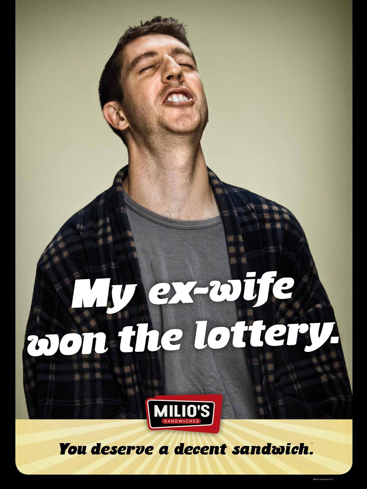 Milio's Sandwiches Print Ad -  Ex-wife