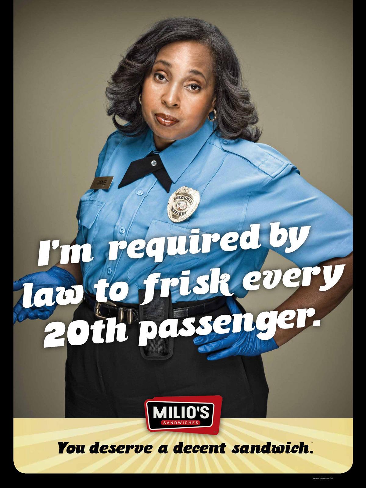 Milio's Sandwiches Print Ad -  Frisk