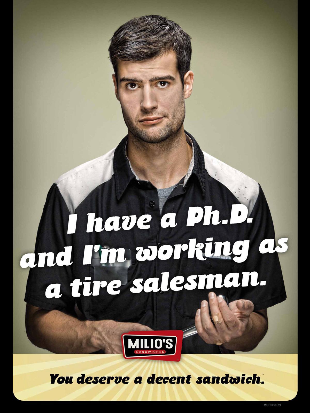 Milio's Sandwiches Print Ad -  Phd