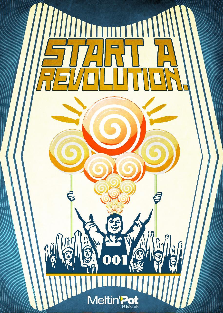 Meltin'Pot Print Ad -  Start a revolution. The new MP 001, 5