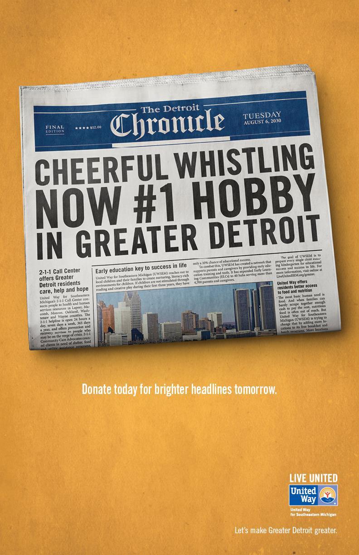 United Way Print Ad -  Whistle