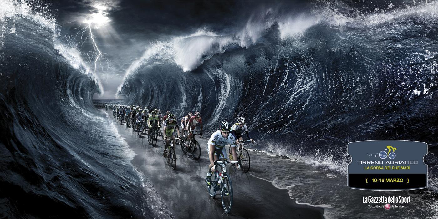 Tirreno Adriatico Print Ad -  The race of the two seas