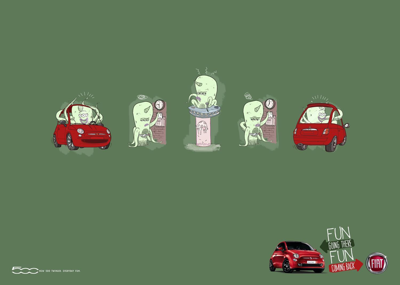 Fiat Print Ad -  Alien