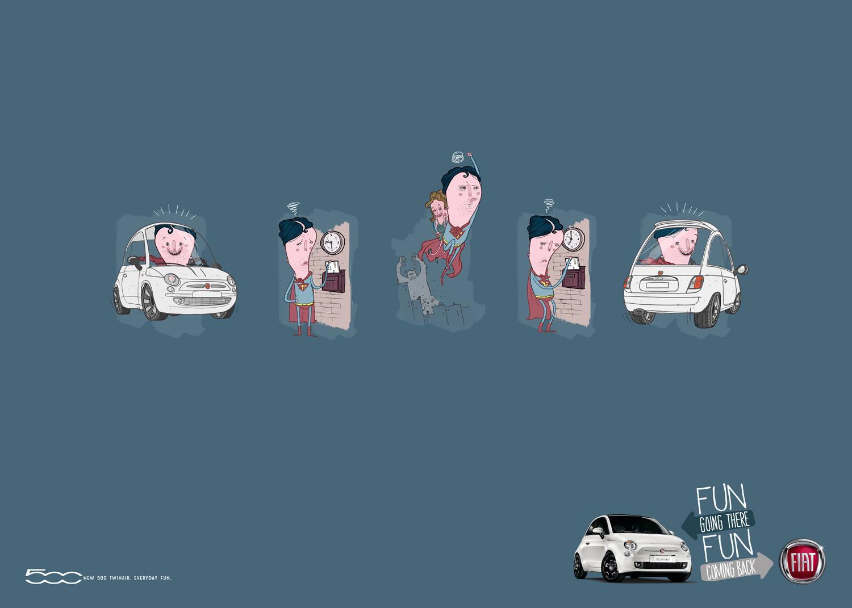 Fiat Print Ad -  Superhero