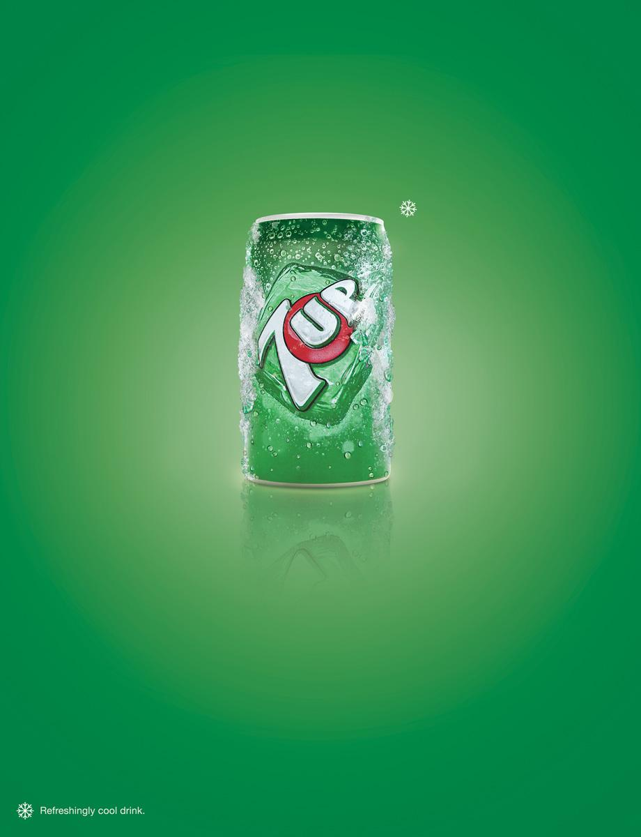 7UP Print Ad -  Snowflake