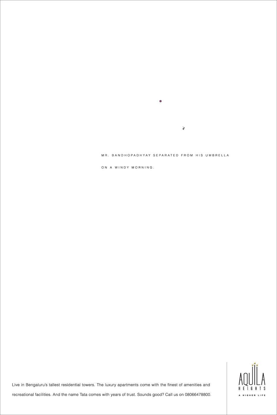 Aquila Heights Print Ad -  Umbrella