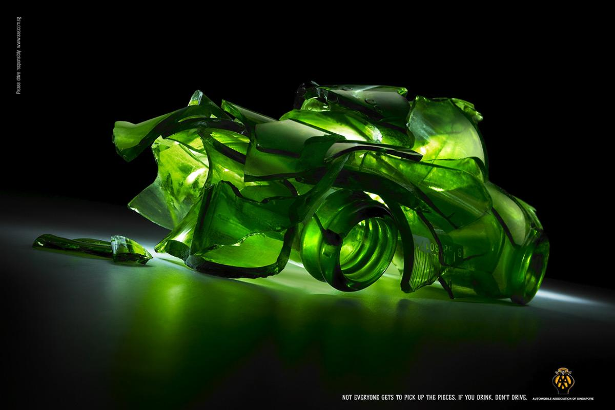 Automobile Association of Singapore Print Ad -  Bottle