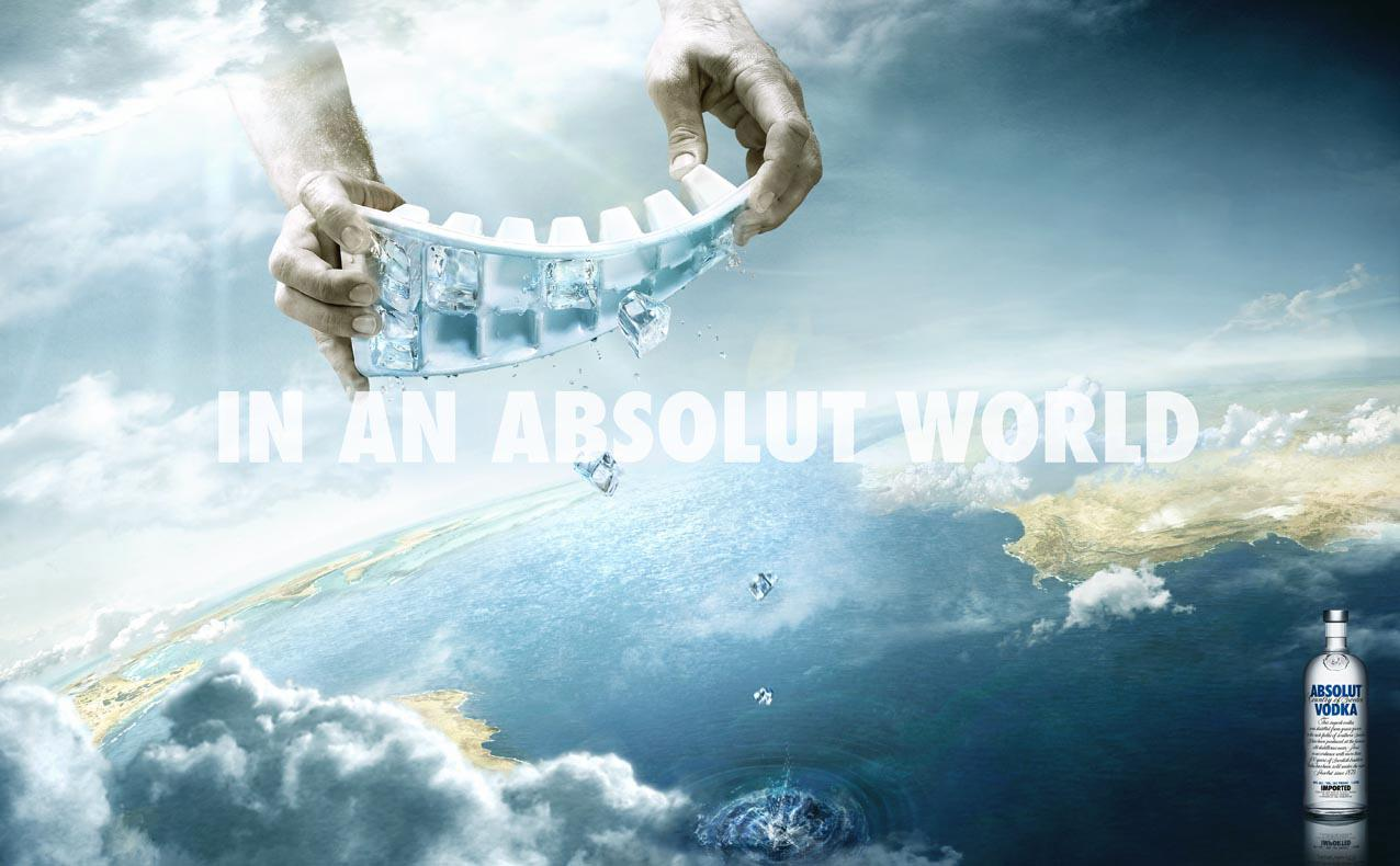 Absolut Print Ad -  Ice