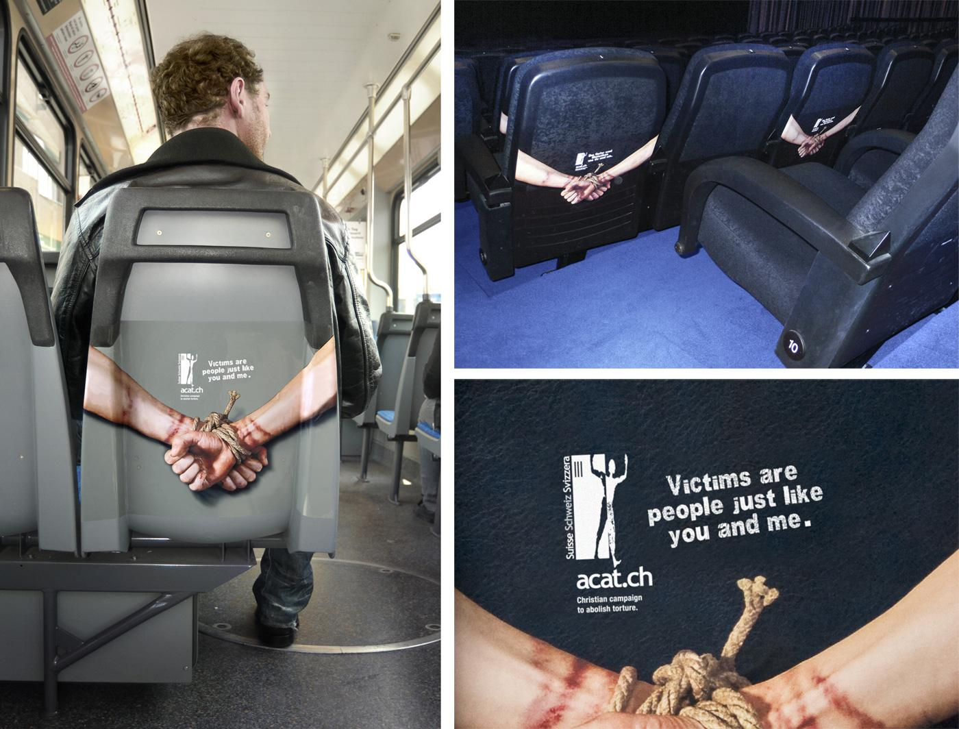 ACAT Ambient Ad -  Back of seats
