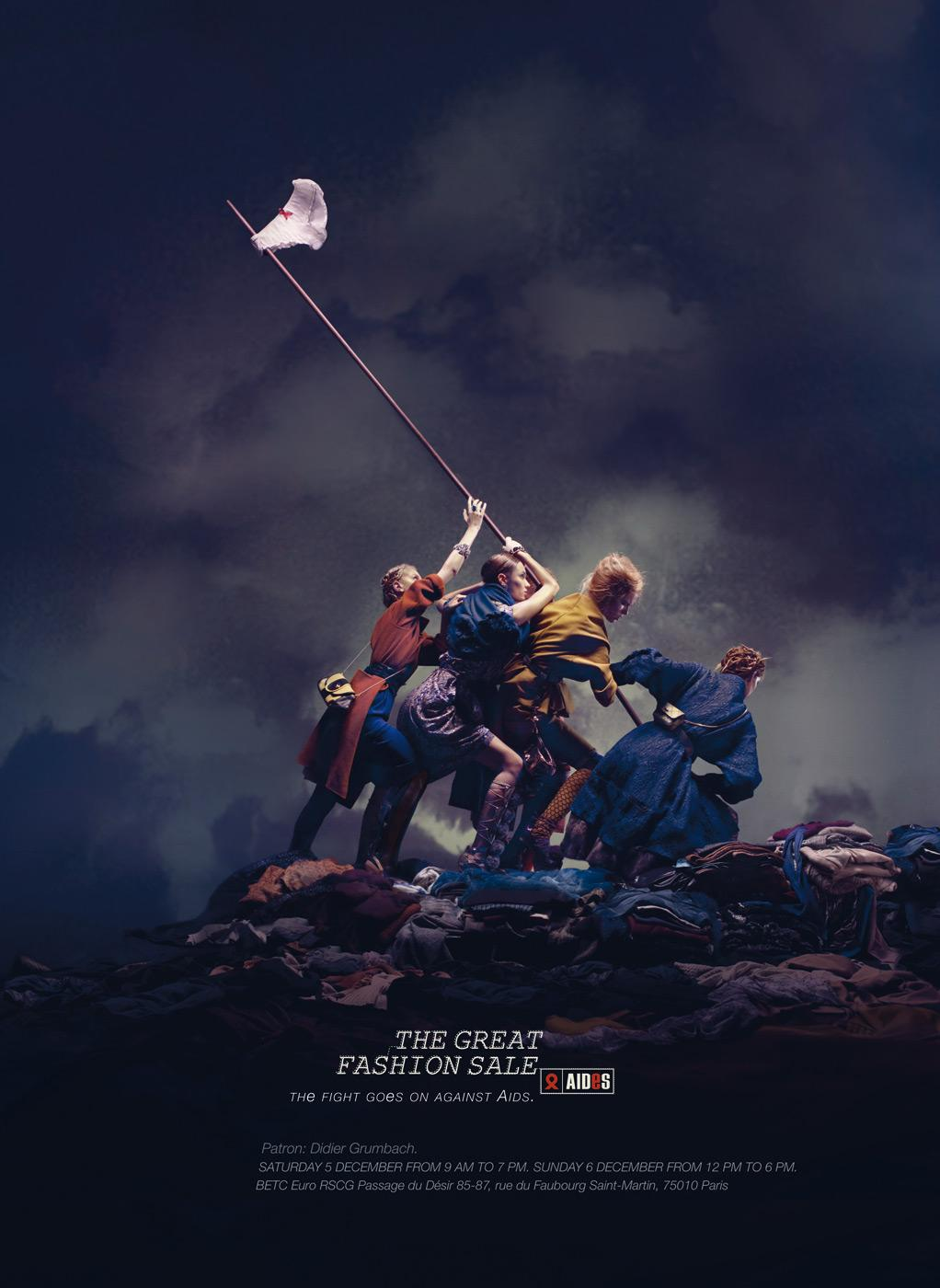 Aides Print Ad -  Flag