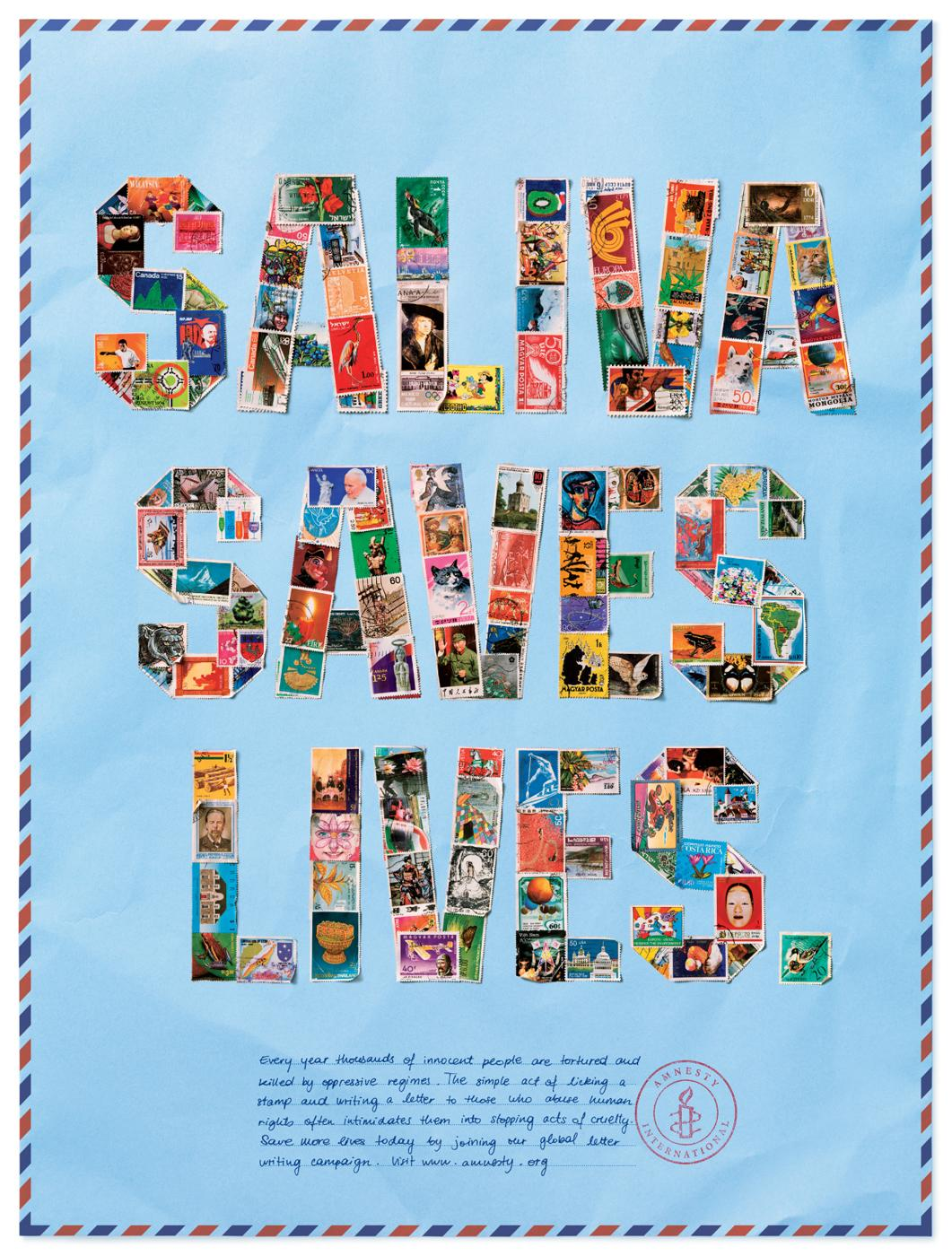 Amnesty International Print Ad -  Saliva