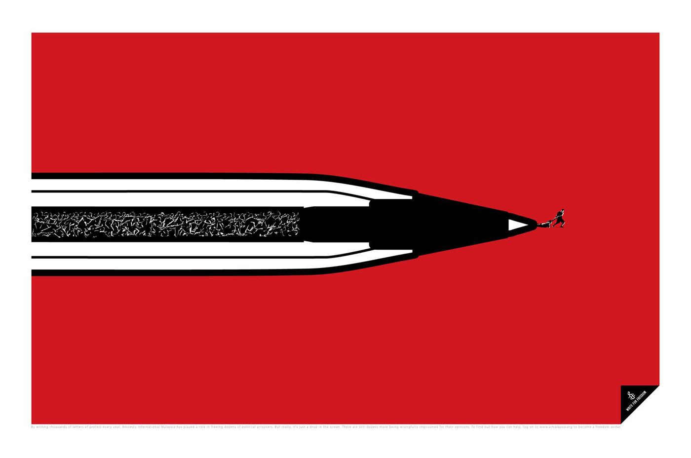 Amnesty International Print Ad -  Pen, 2