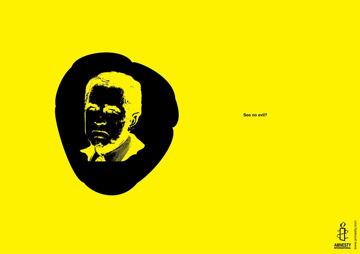 Amnesty International Print Ad -  See no evil, 1