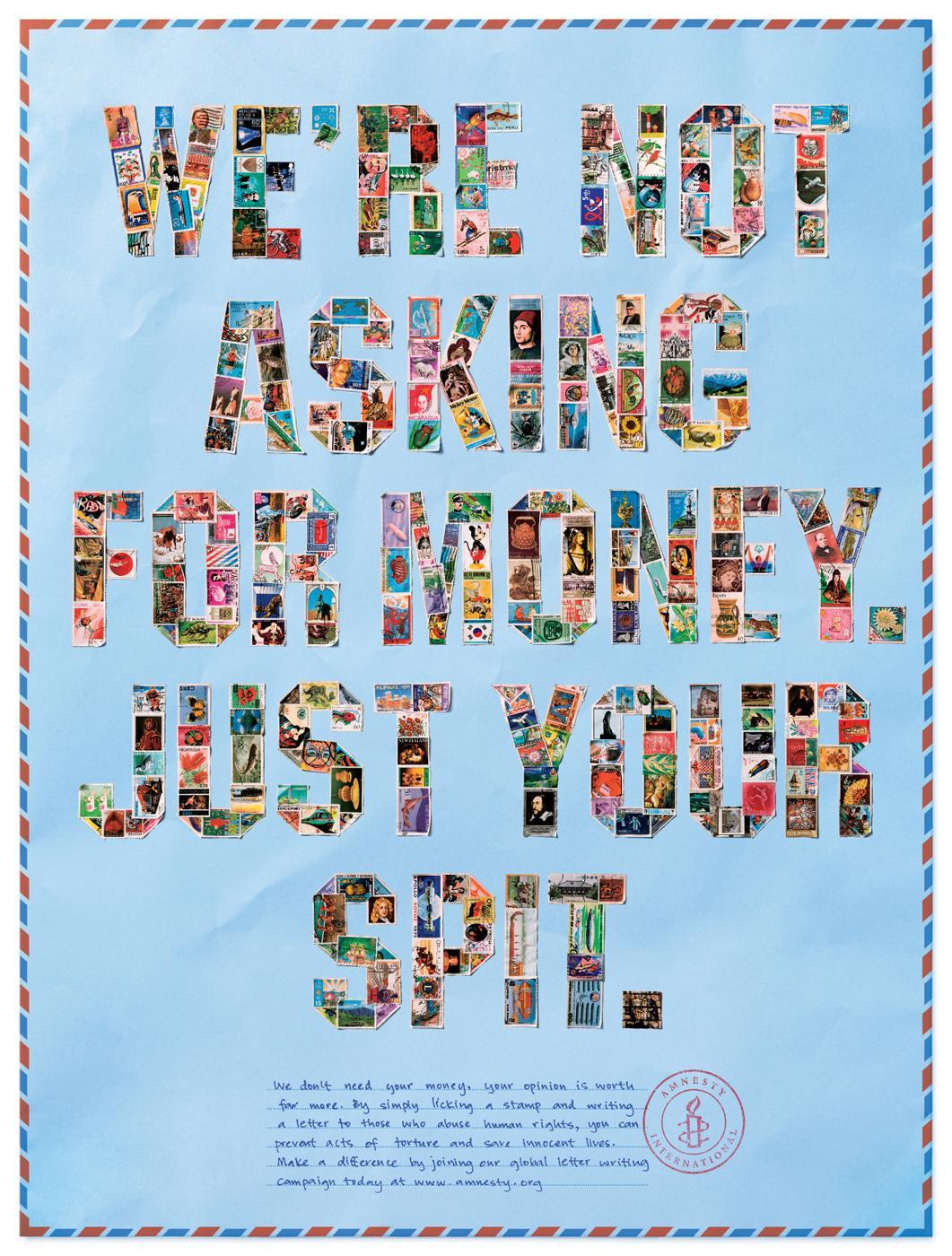 Amnesty International Print Ad -  Spit