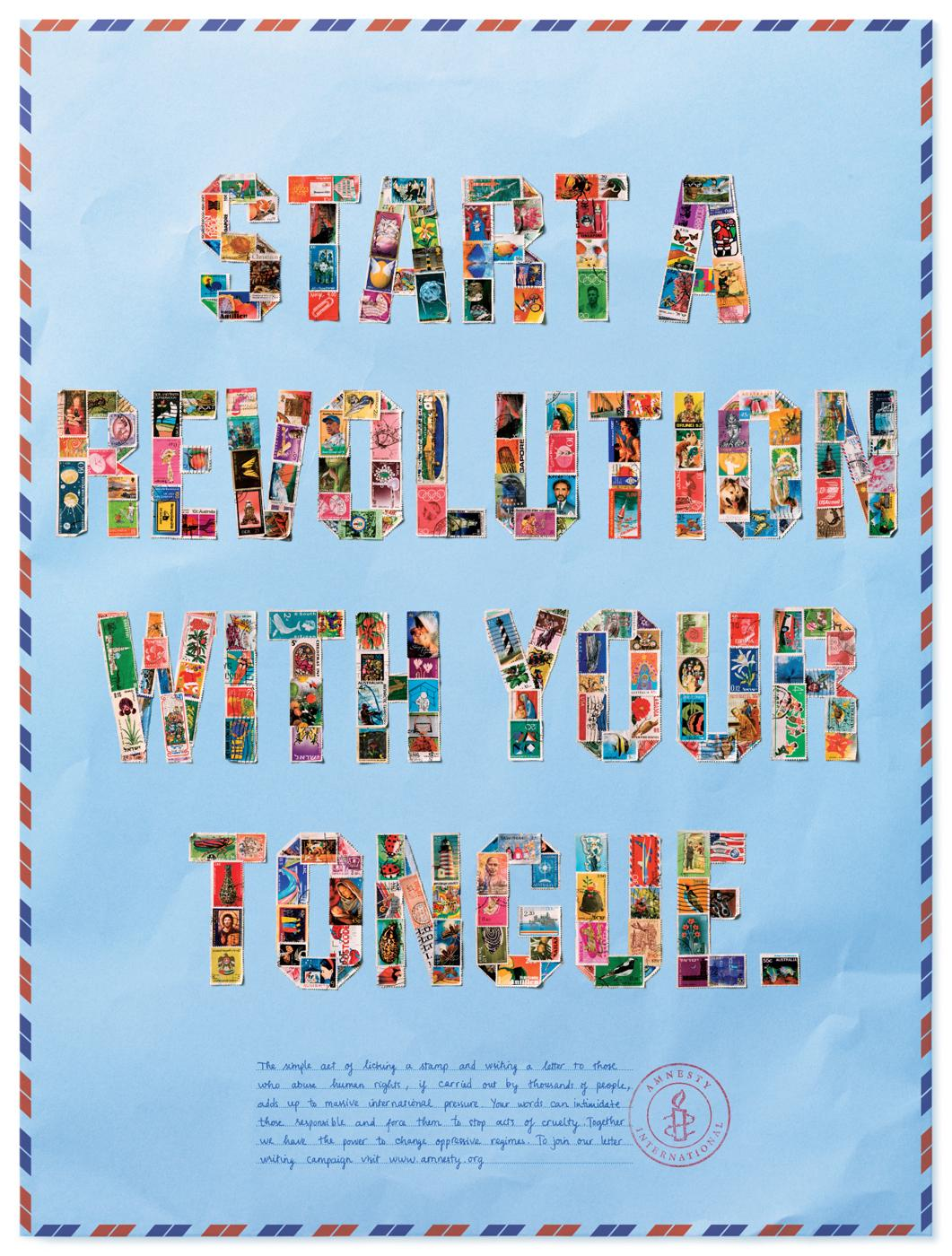 Amnesty International Print Ad -  Tongue