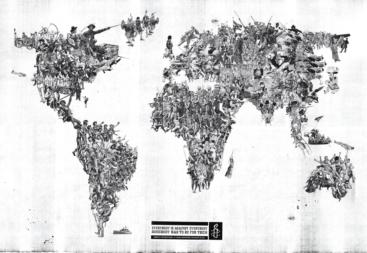 Amnesty International Print Ad -  World