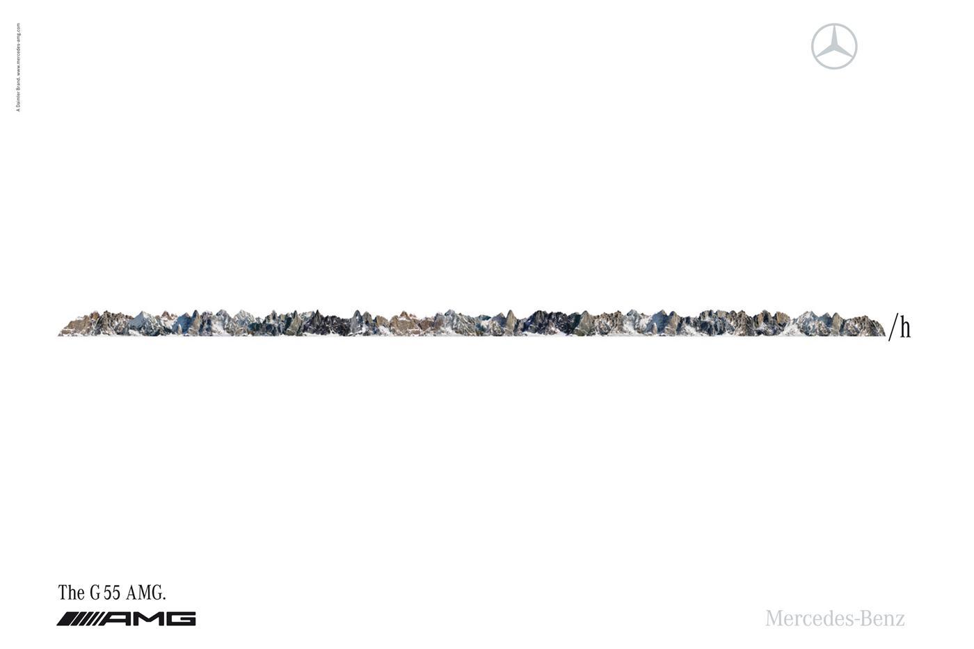 Mercedes Print Ad -  Mountains