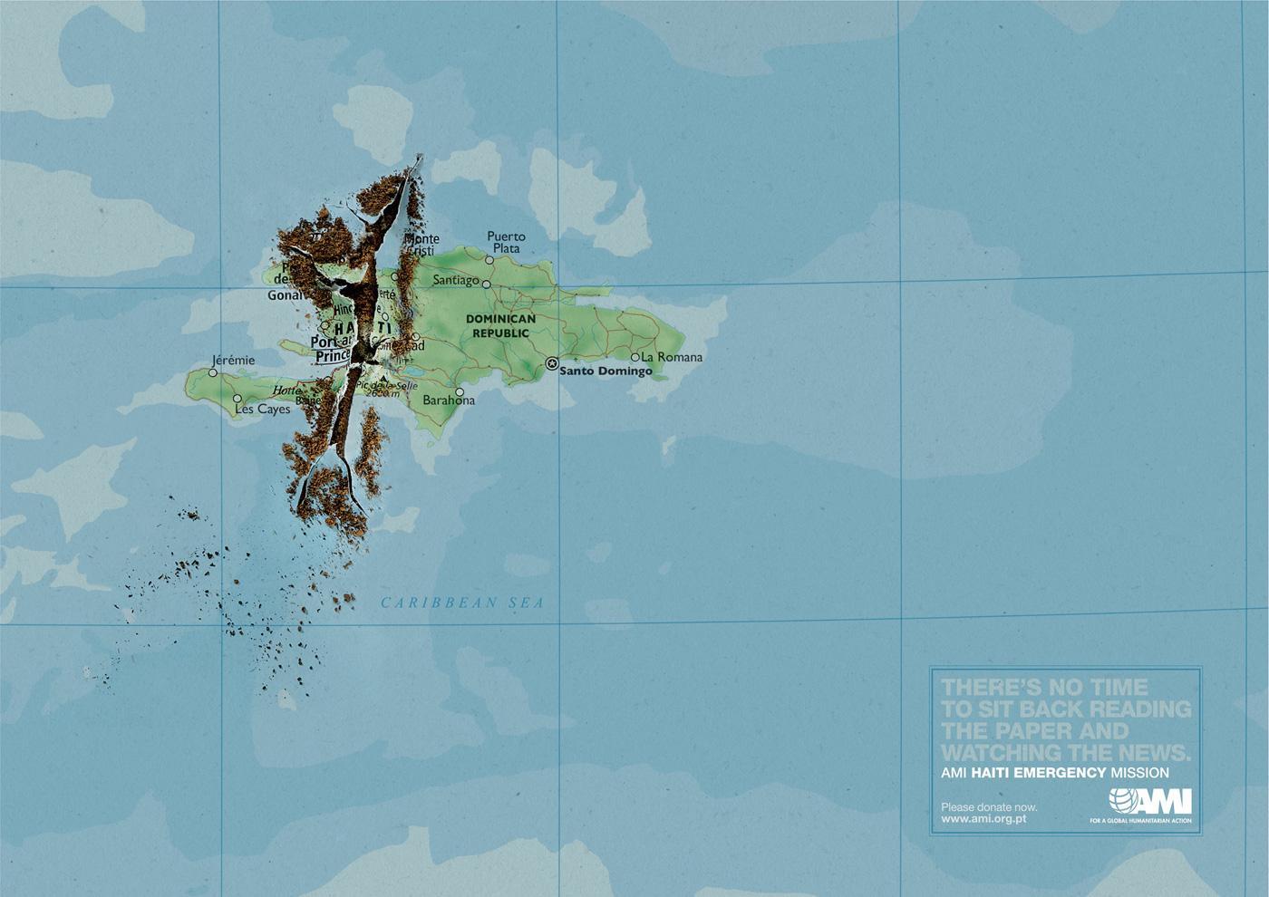 AMI Print Ad -  Torn map