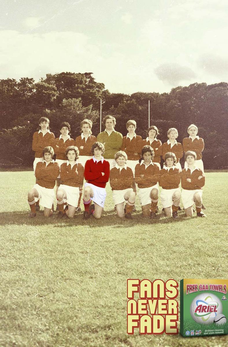Ariel Print Ad -  Football