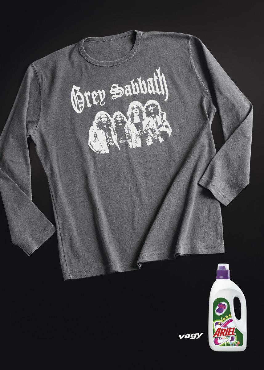 Ariel Print Ad -  Grey t-shirt