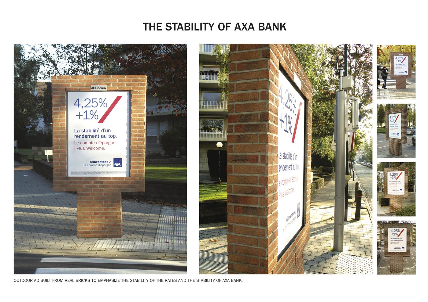AXA Outdoor Ad -  Bricks