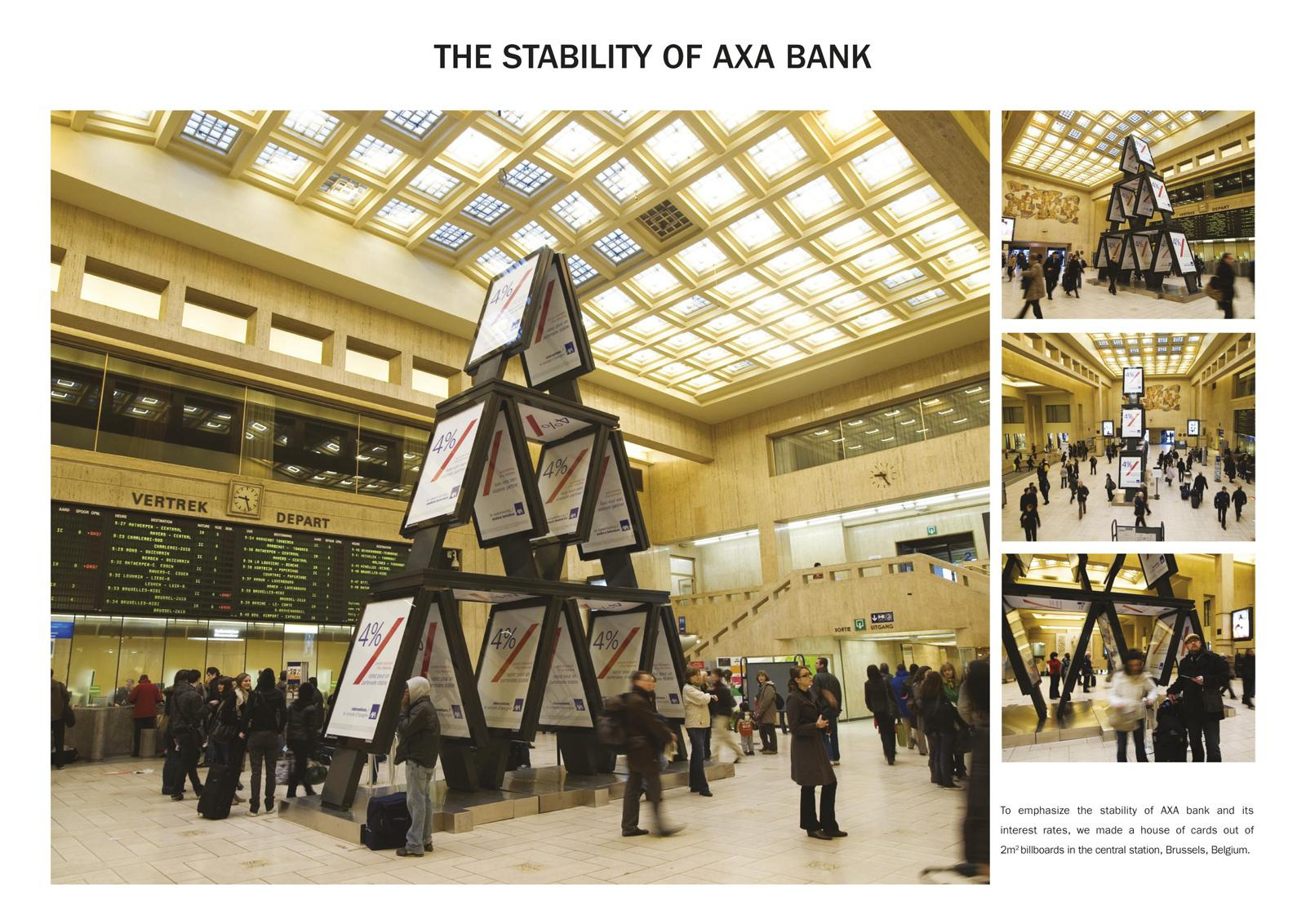 AXA Outdoor Ad -  House of cards