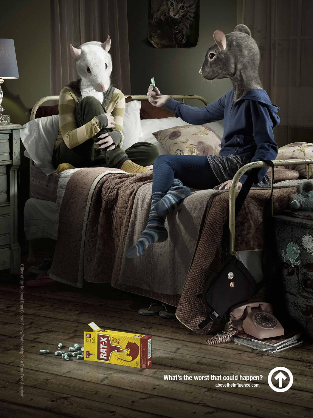 Drugfree America Print Ad -  Rats