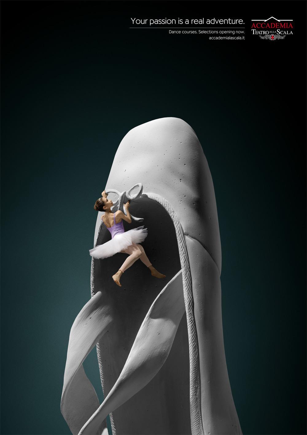 Accademia Teatro alla Scala Print Ad -  The climb, Ballet