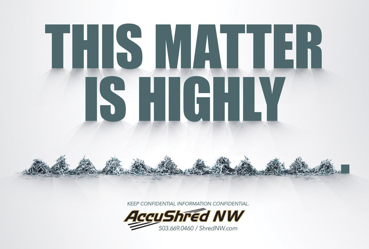Accushred Print Ad -  Confidential