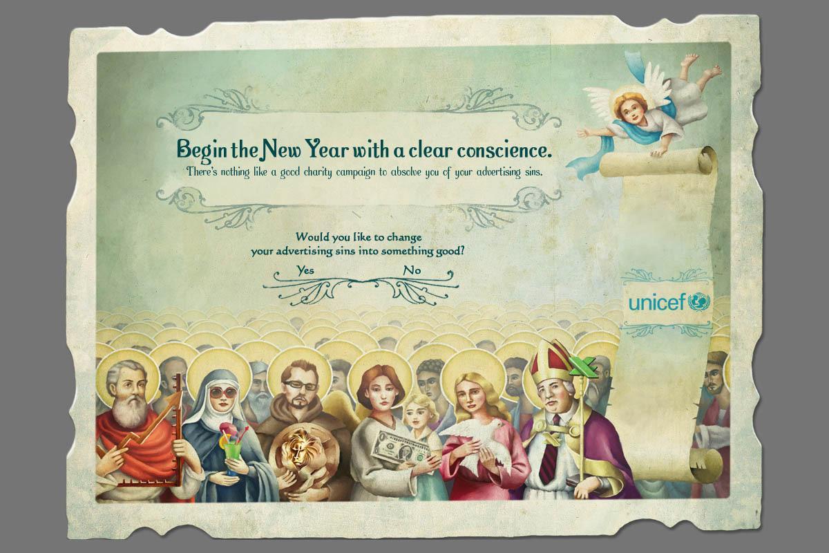 Unicef Digital Ad -  Advertising Confession