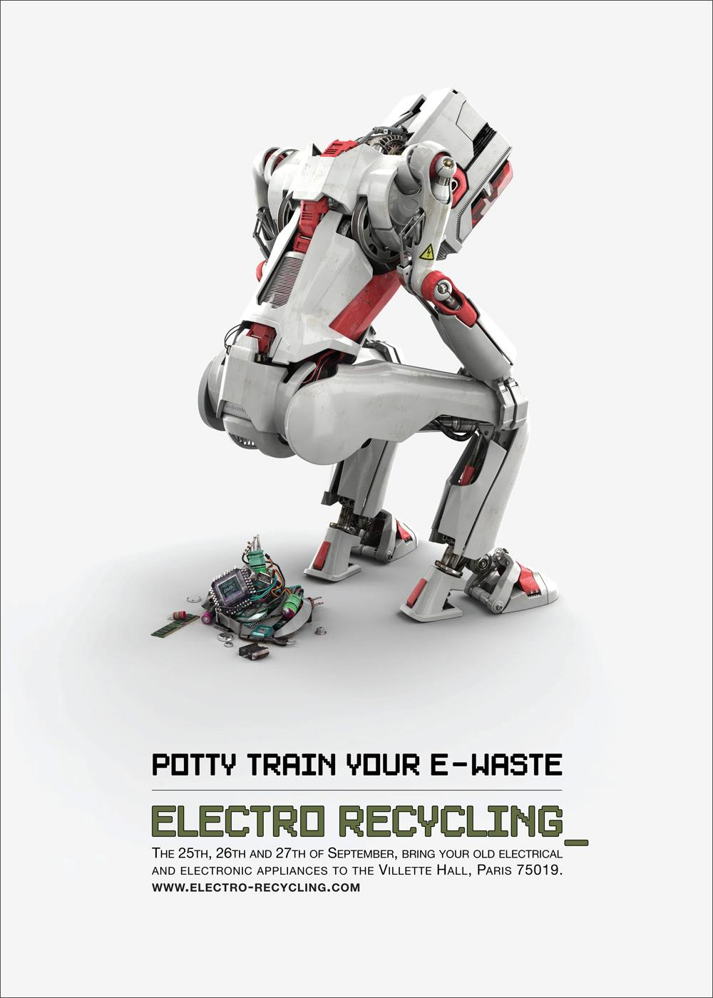 Electro Recycling Print Ad -  Robot