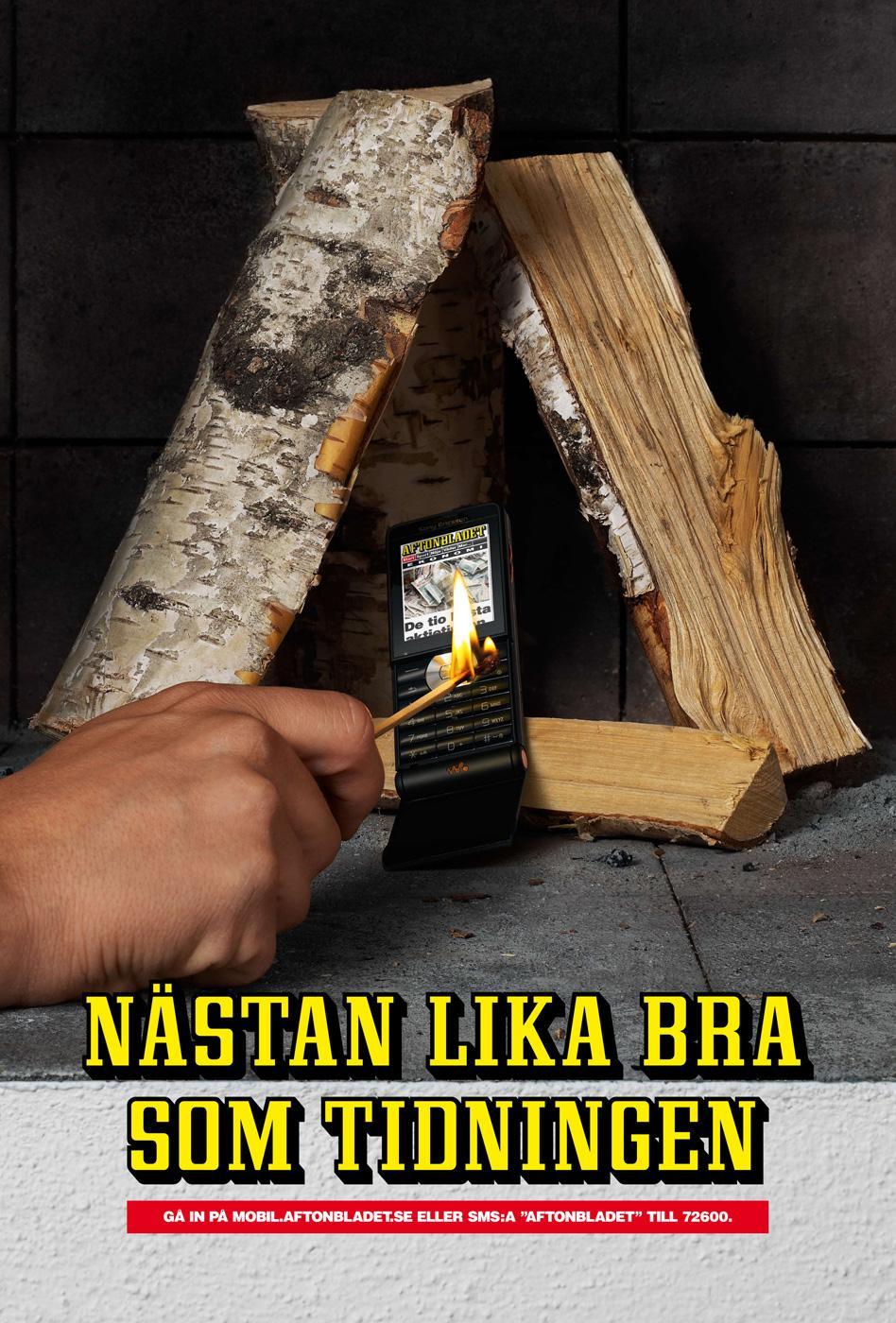 Aftonbladet Print Ad -  Flame