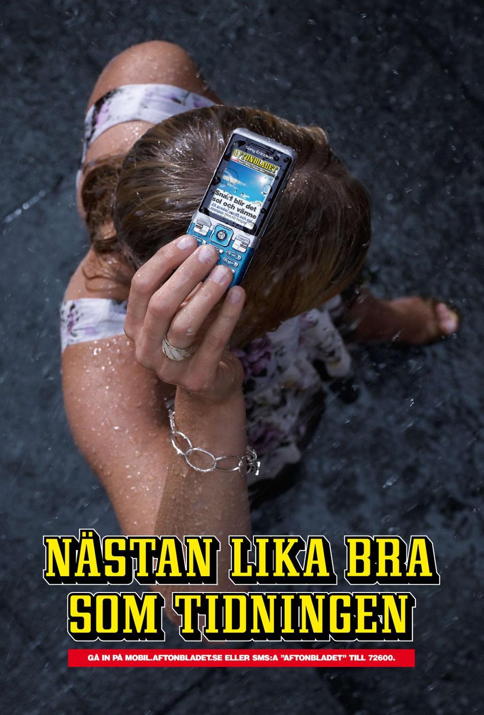Aftonbladet Print Ad -  Rain