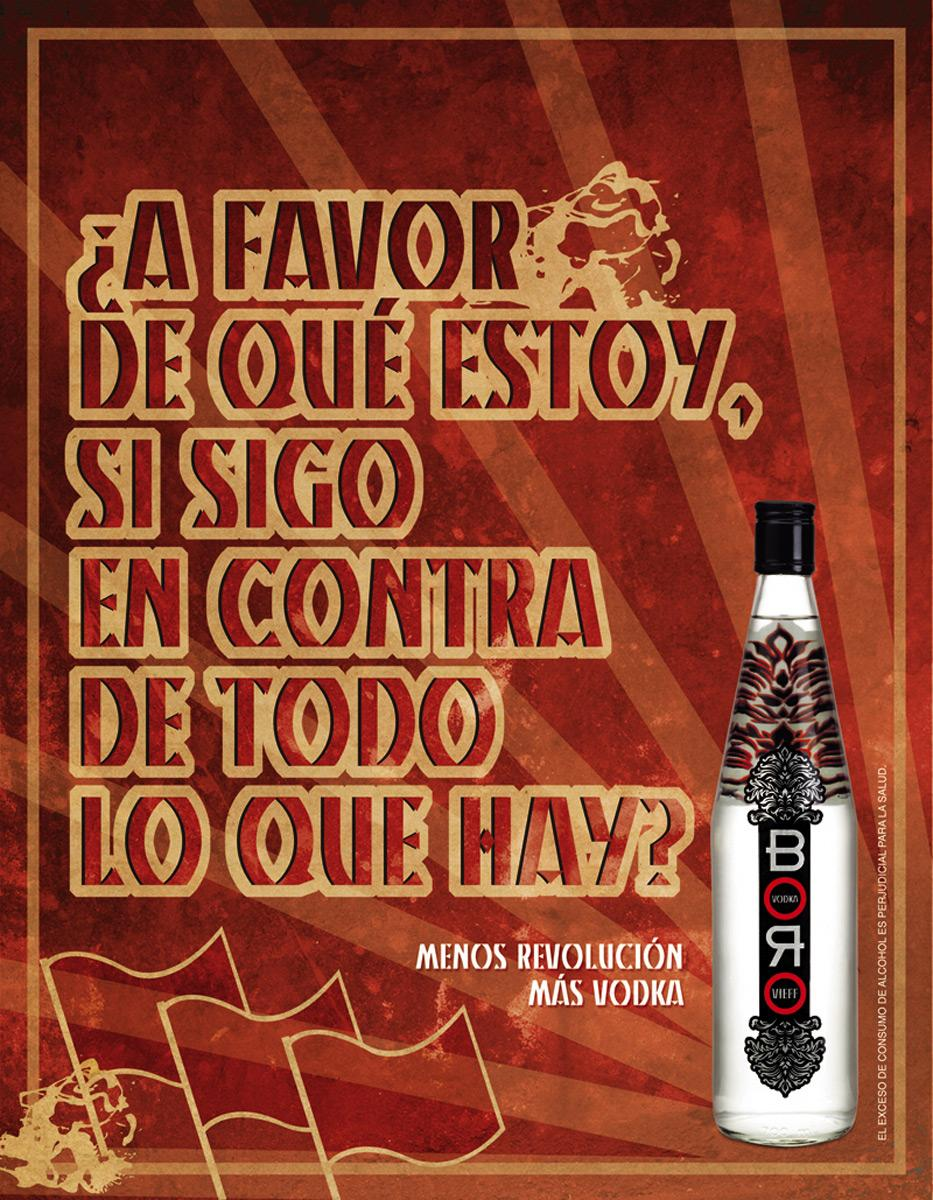 Boro Vodka Print Ad -  Against