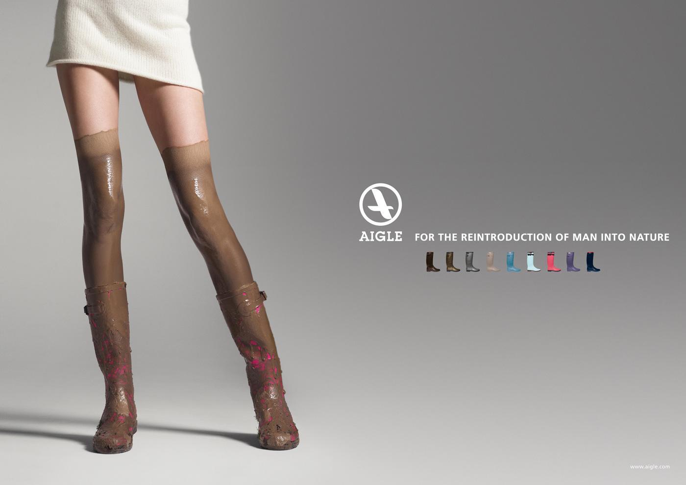 Aigle Print Ad -  Boots